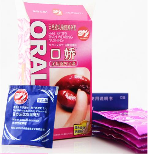 Оральный секс с презер