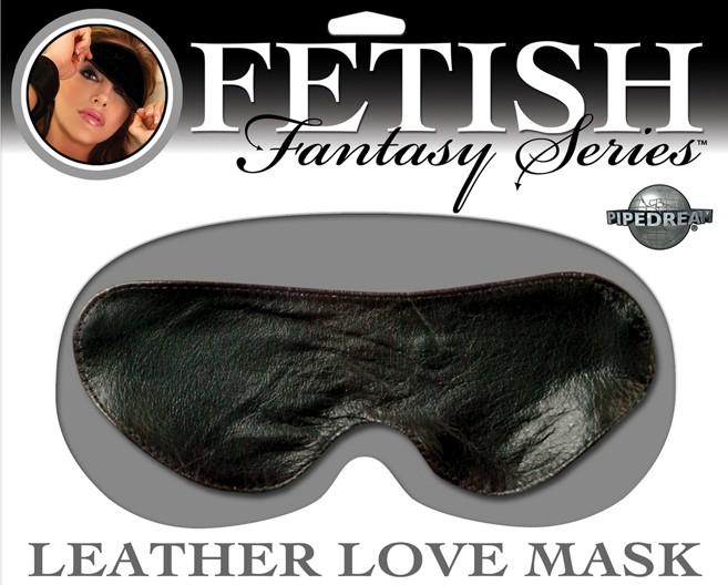 Кожаная маска на глаза LEATHER LOVE MASK BLACK