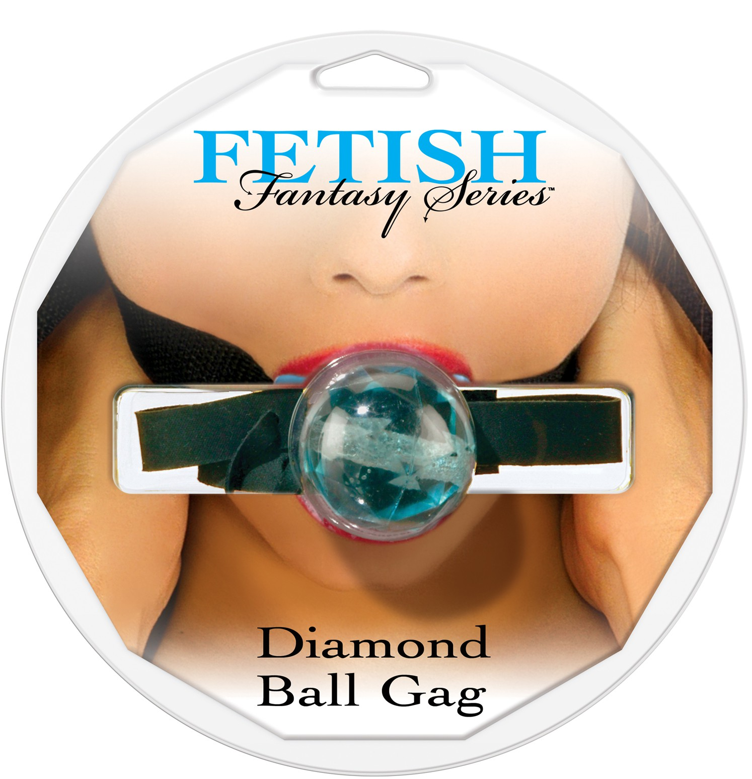 Кляп DIAMOND BALL GAG BLUE