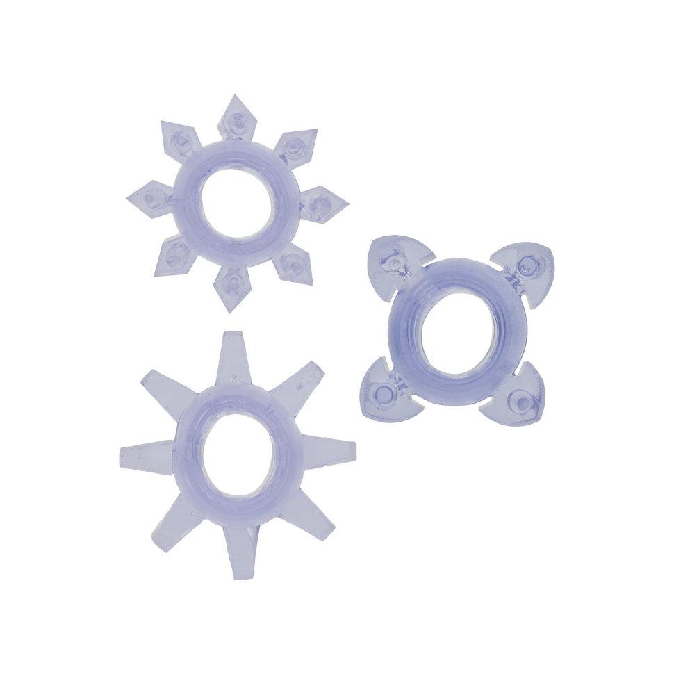 Набор эрекционных колец Tickle C-rings Purple