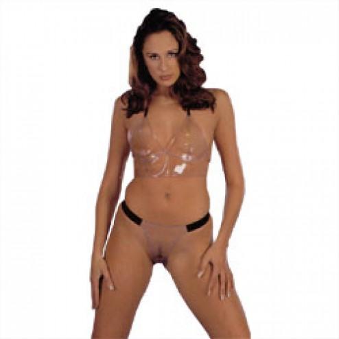 Секси-комплект, прозрачный