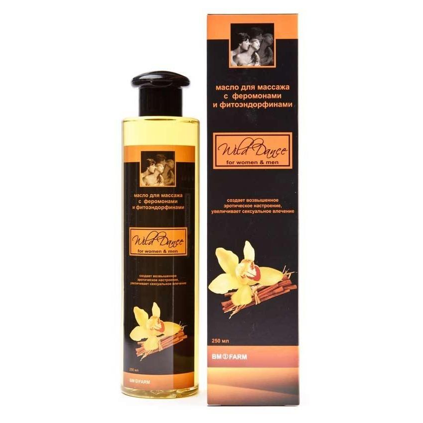 Масло для массажа с ароматом цитруса и корицы Wild Dance, 250 мл