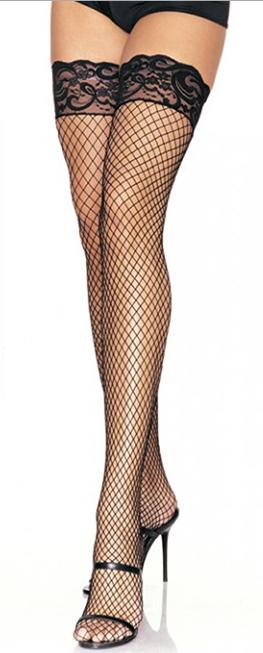 Чулки-сеточка LEG9201, черные