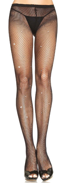 Колготки в сеточку LYCRA FISHNET PANTYHOSE WITH RHINESTONE DETAIL O/S BLACK