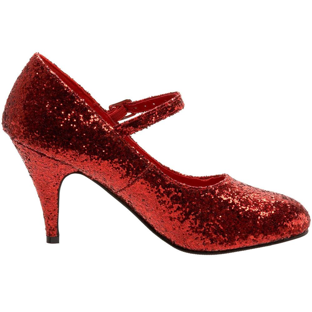 Блестящие красные туфли RUBY на высоком каблуке