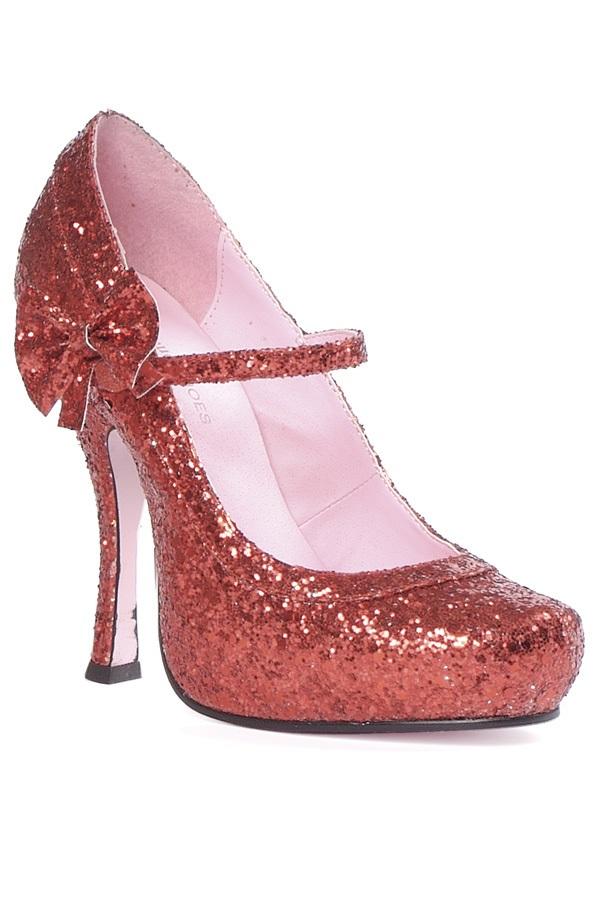 Блестящие красные туфли RUBY на каблуке