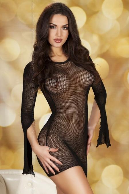 Мини платье с длинным рукавом CR3609 BL S/M