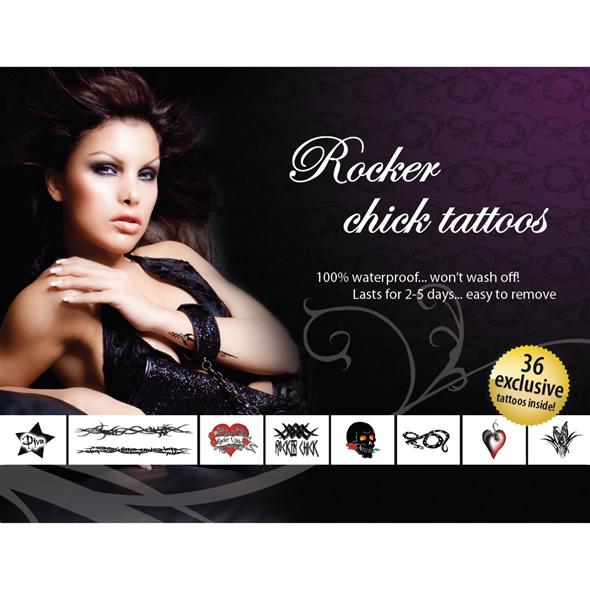 Интимные временные татуировки Rocker Chick