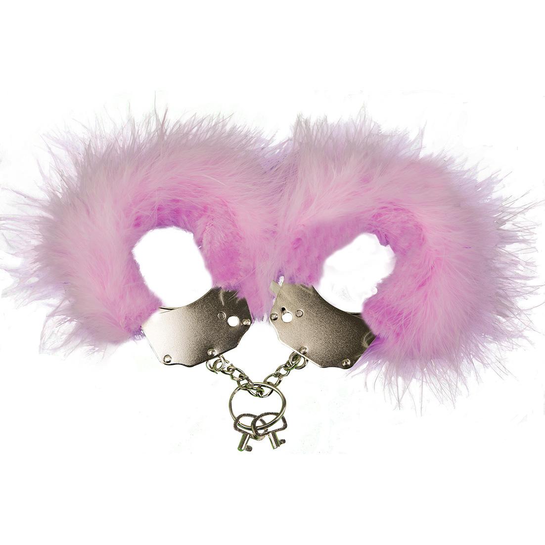 Наручники металлические с отделкой Handcuffs, розовый