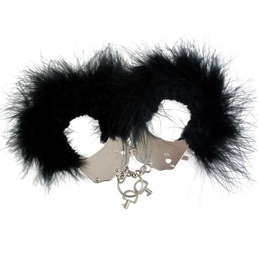 Наручники металлические с отделкой Handcuffs, черный