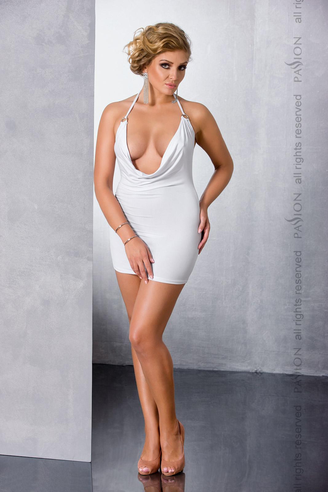 Эротическое платье Passion Size Plus MIRACLE CHEMISE, белый, 4XL/5XL