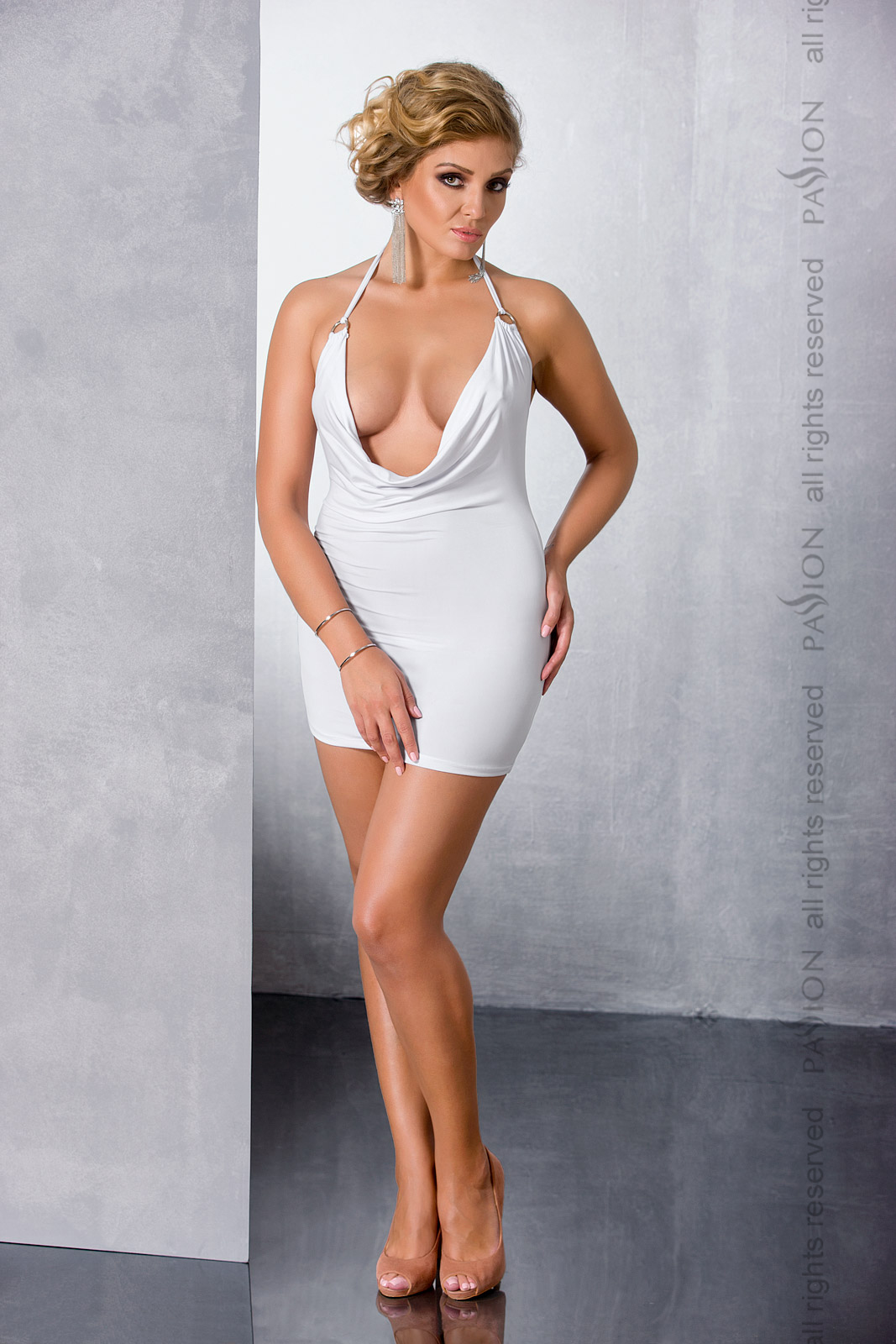 Эротическое платье Passion Size Plus MIRACLE CHEMISE, белый, 6XL/7XL