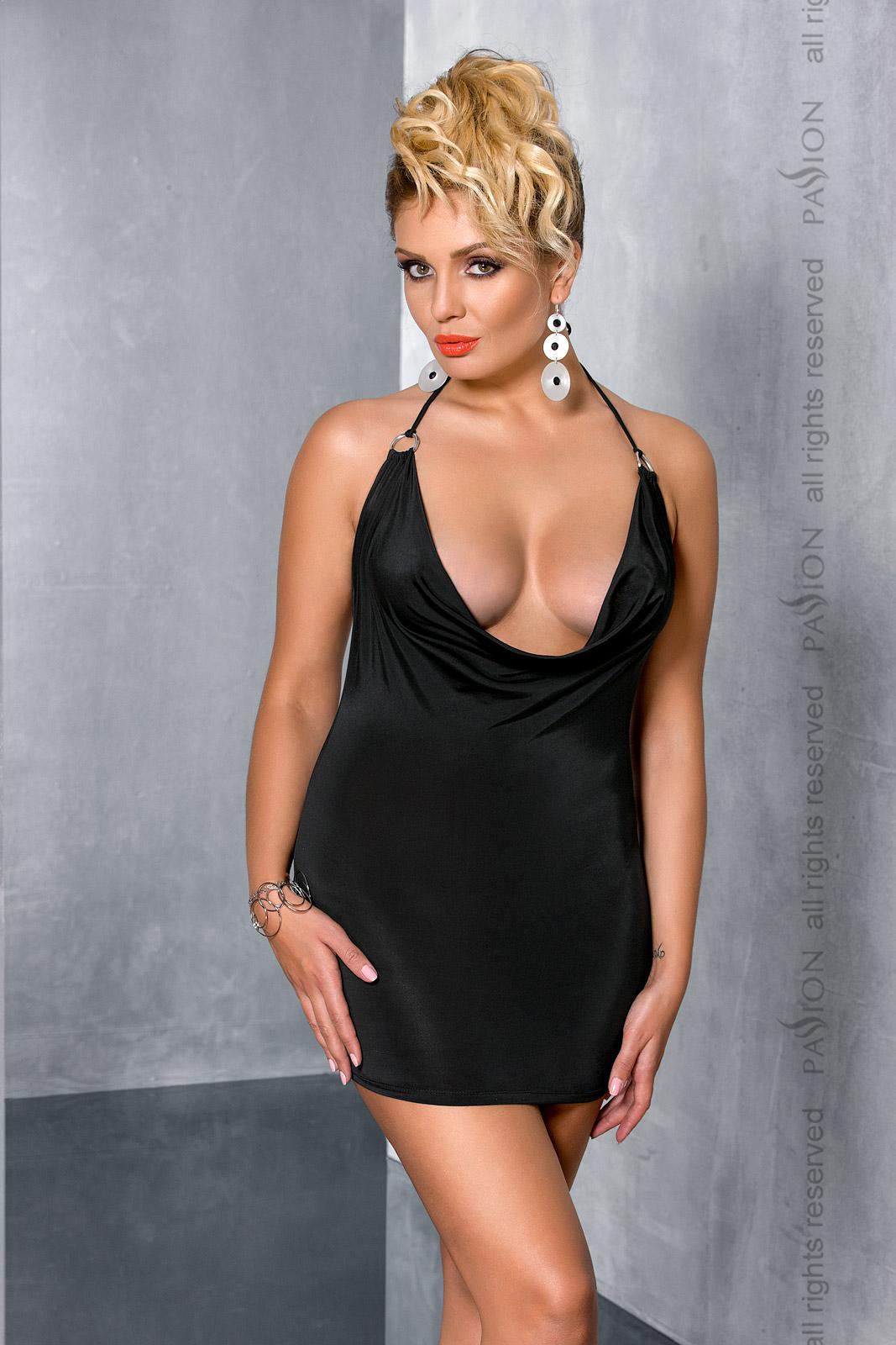 Эротическое мини-платье Passion Size Plus MIRACLE CHEMISE, черный, 6XL/7XL