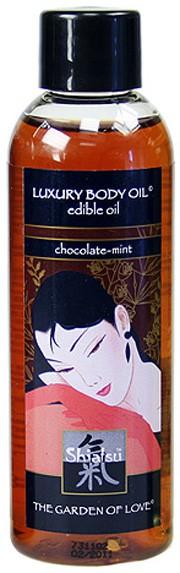 Съедобное масло для массажа SHIATSU EDIBLE OIL CHOCOLATE-MINT
