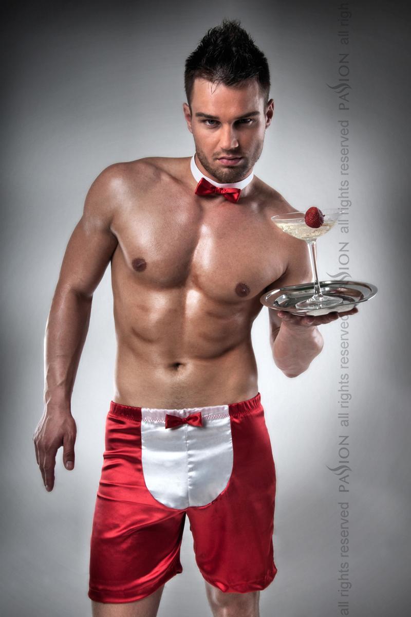 Мужской эротический костюм Passion 019 SHORT, красный, L/XL