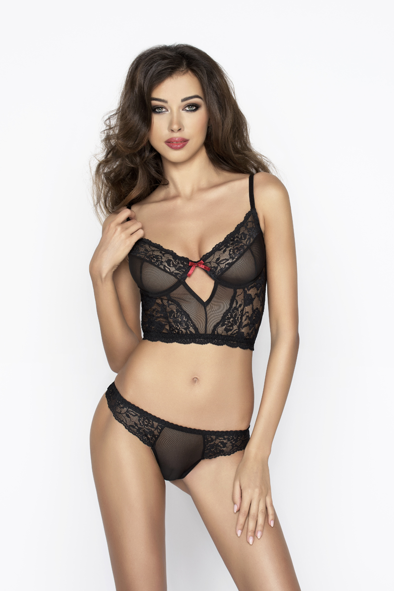 Комплект эротического белья Passion Erotic Line LEXINE SET, черный, S/M