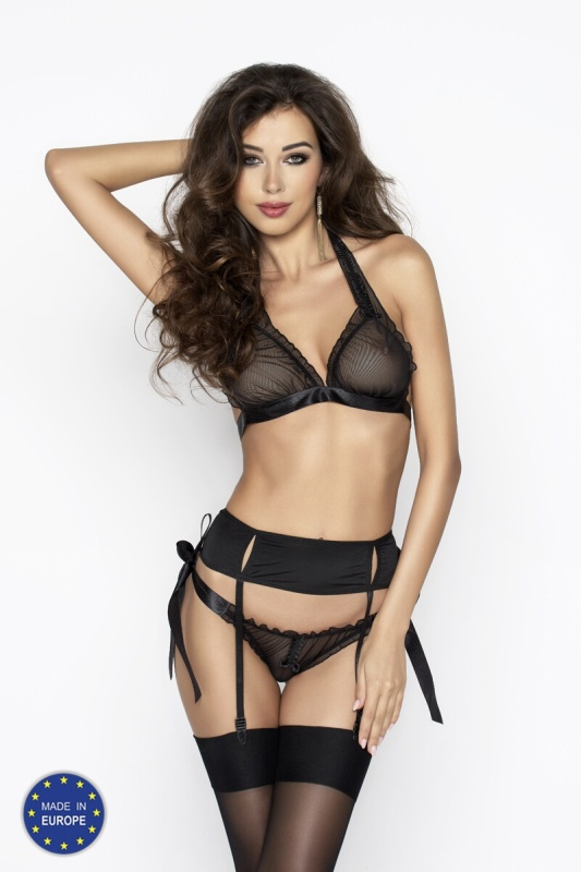 Комплект Passion Erotic Line ULLA SET, черный, S/M