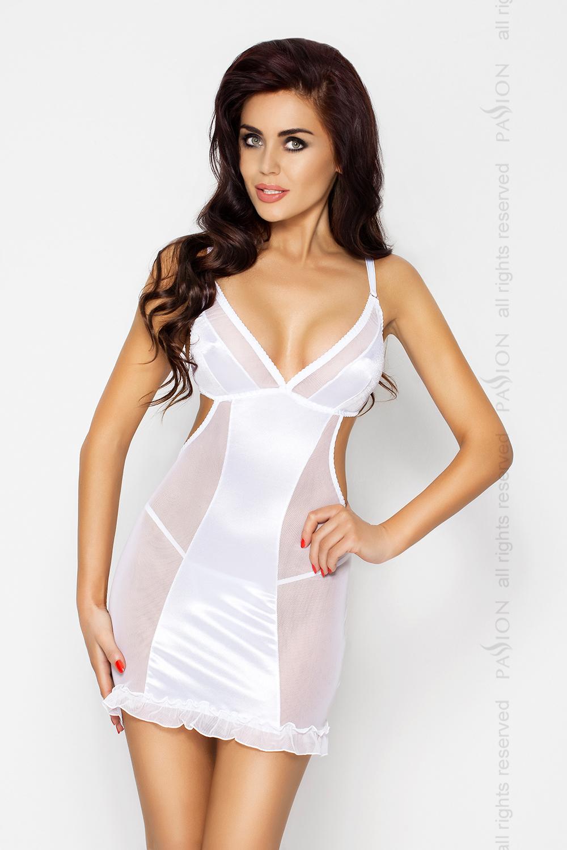 Платье Passion Erotic Line WILMA CHEMISE, белый, S/M