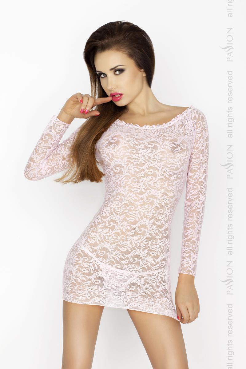 Пеньюар Passion Erotic Line YOLANDA CHEMISE, розовый, XXL/XXXL
