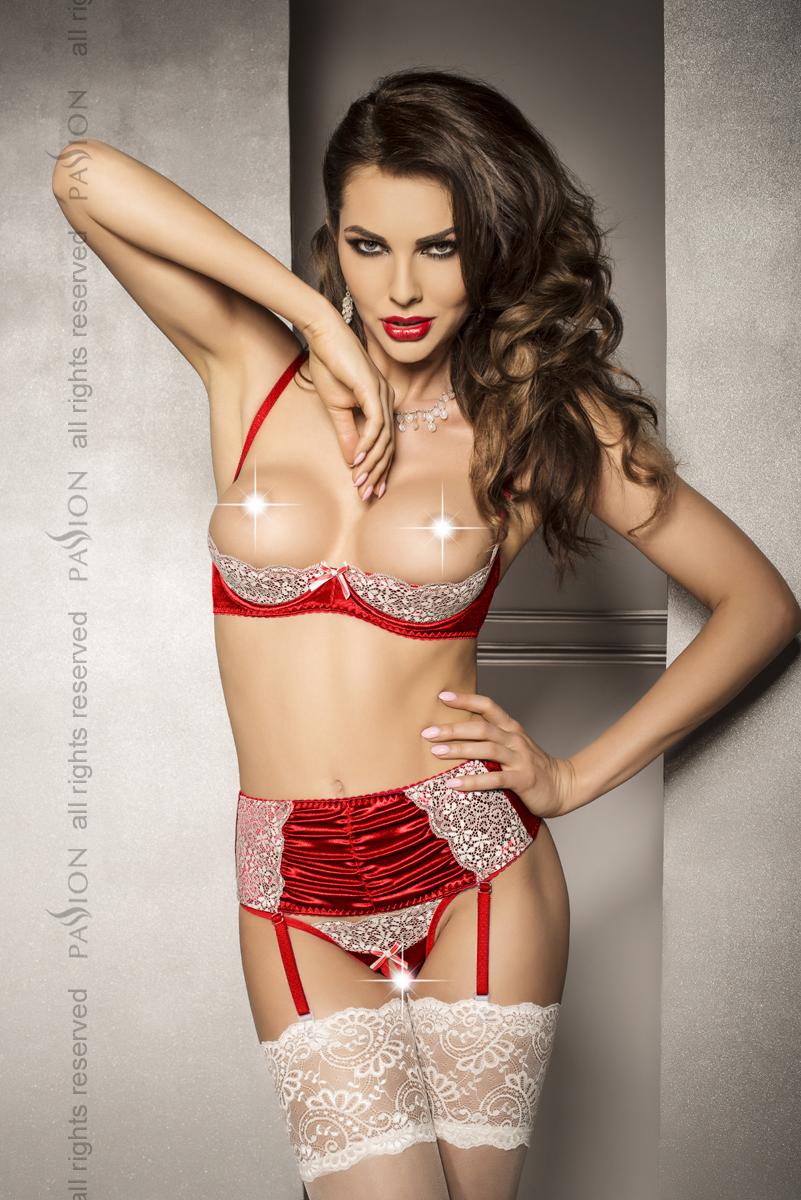 Женский эротический комплект Passion TIA SET, красный, S/M