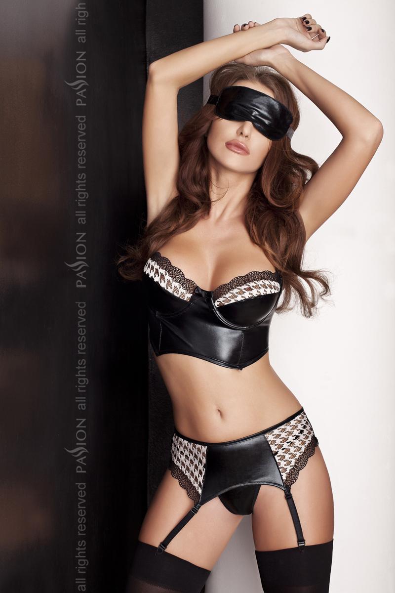 Женский эротический комплект Passion VIRGIN SET, черный, L/XL