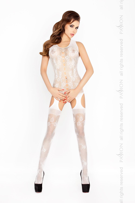 Cетка-чулок на тело Passion BS012, белый