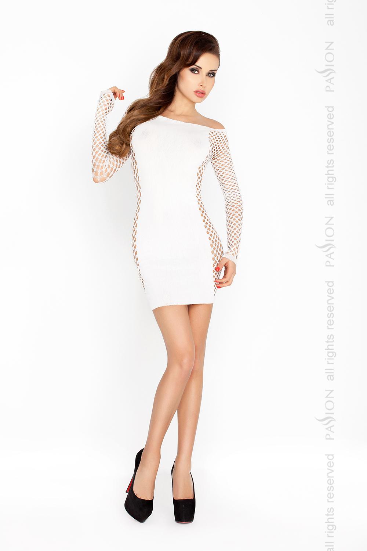 Эротическое платье чулок Passion BS025, белый