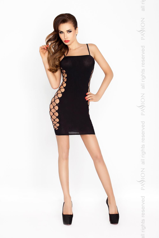 Короткое мини платье Passion BS026, черный