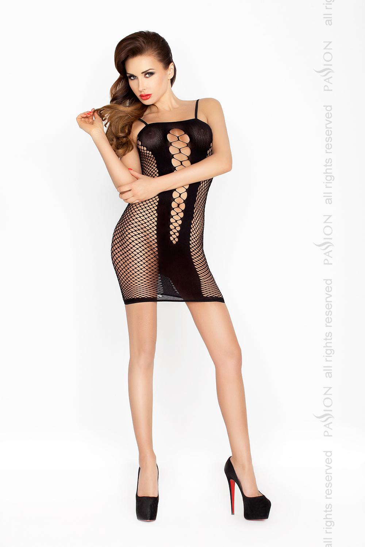 Эротическое платье-сетка Passion BS027, черное