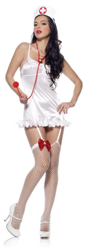 Костюм медсестры NURSE WHITE RED