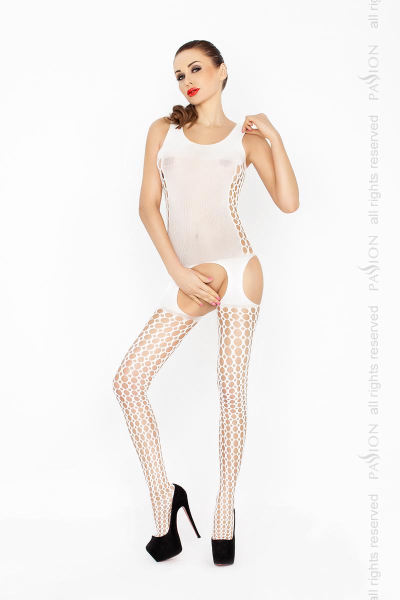 Соблазнительный костюм-сетка Passion BS029, белый