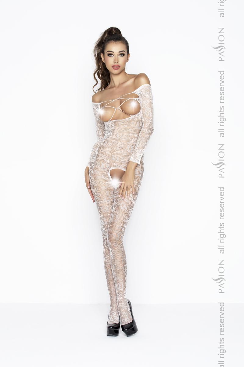 Сексуальный костюм-сетка Passion BS031, белый