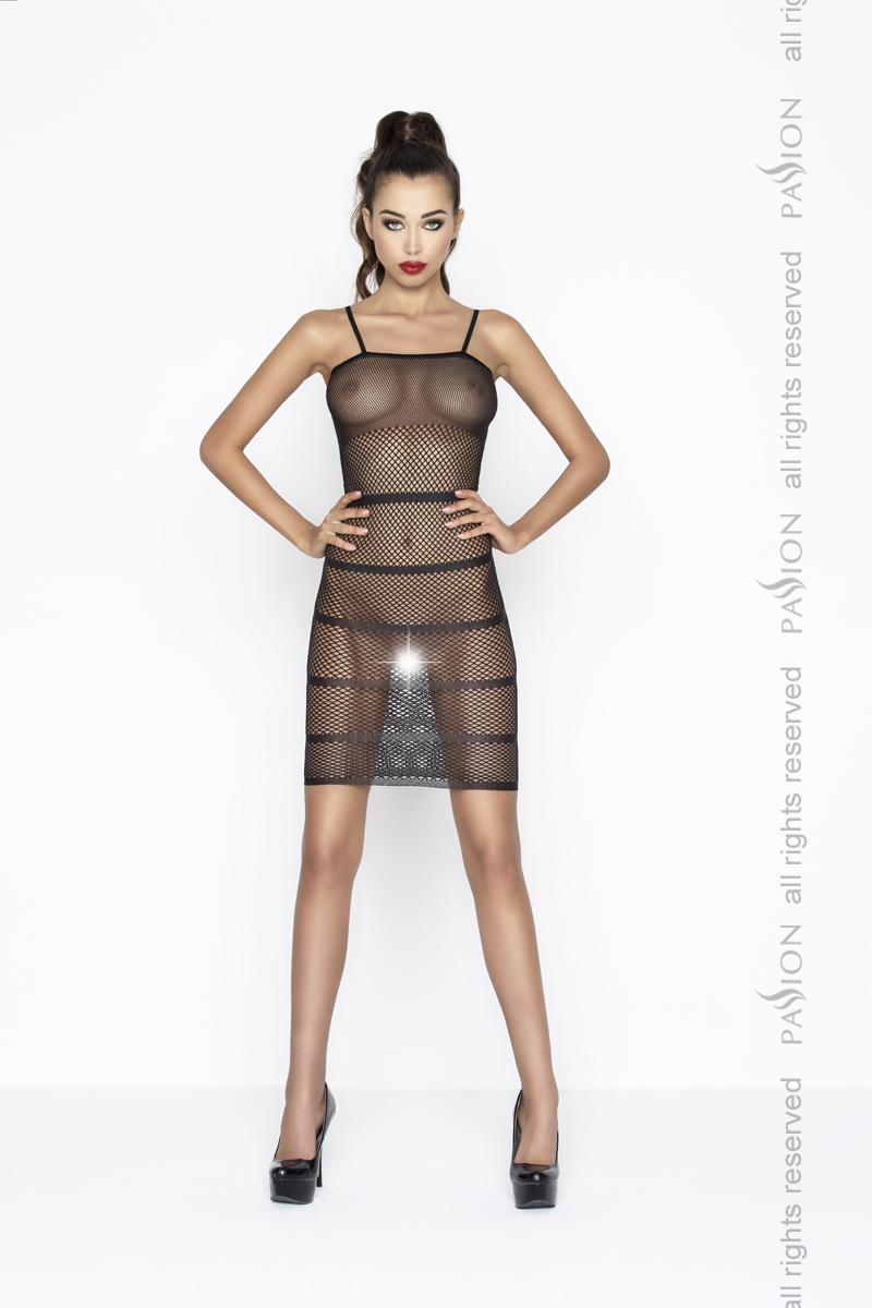 Прозрачное сексуальное платье Passion PBS033, черный