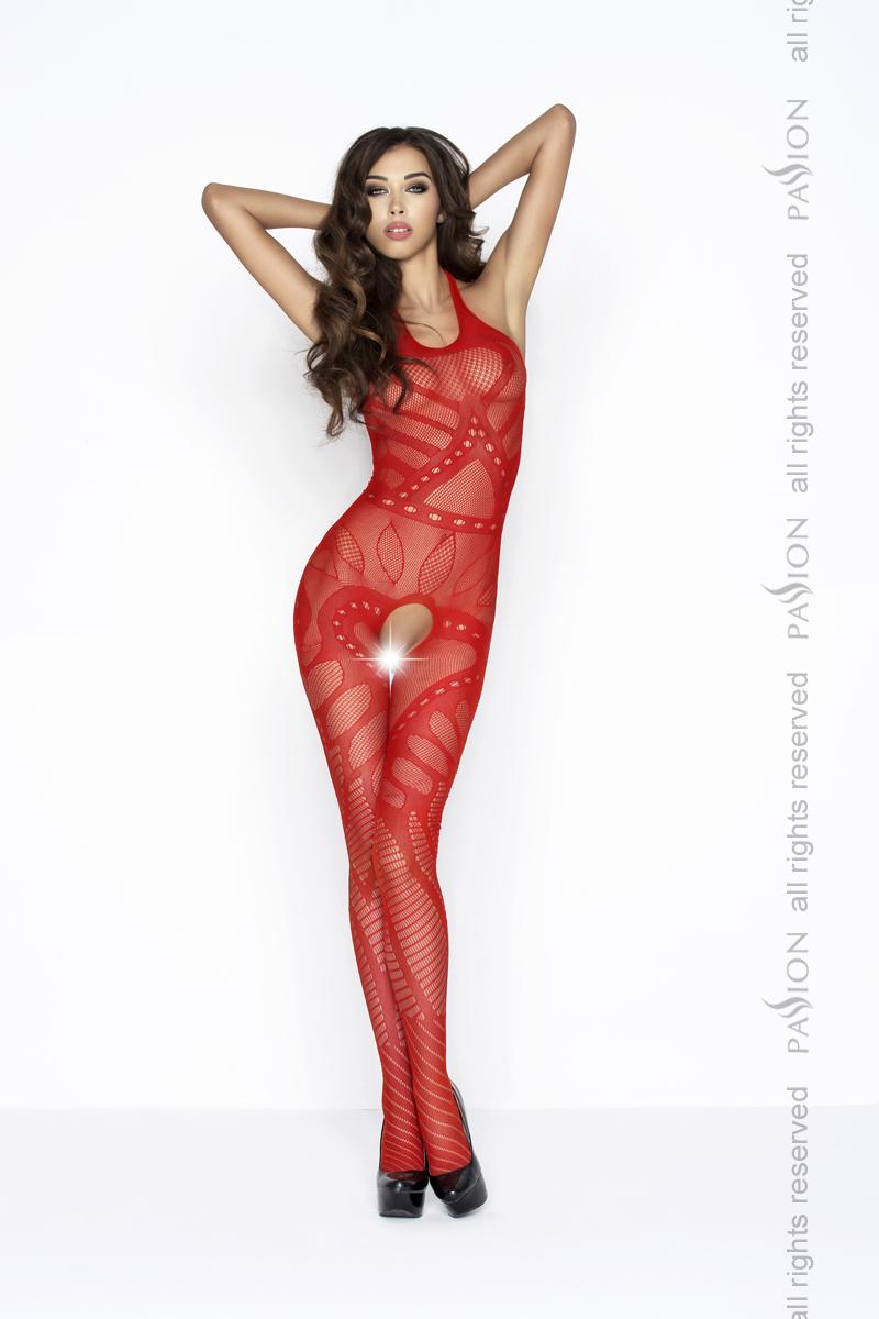 Сексуальный чулок на тело Passion BS037, красный