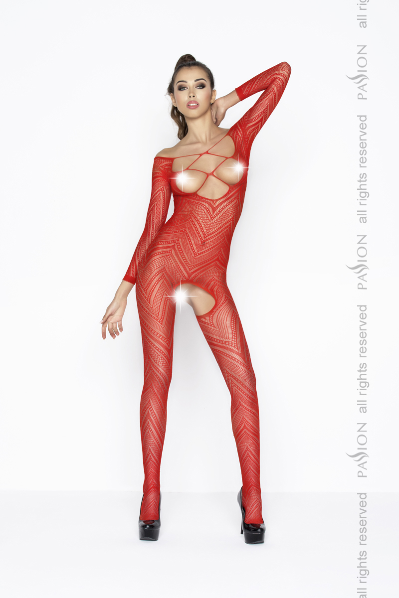 Бодистокинг-сетка Passion BS040, красная