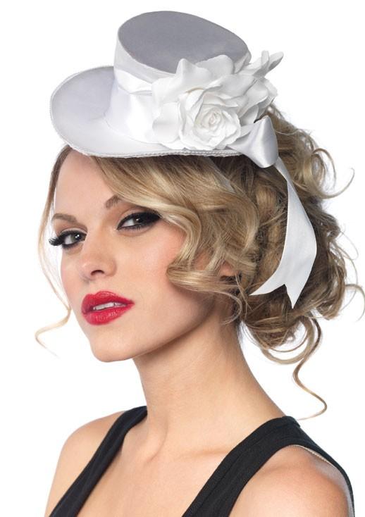 Шляпка SATIN TOP HAT WHITE