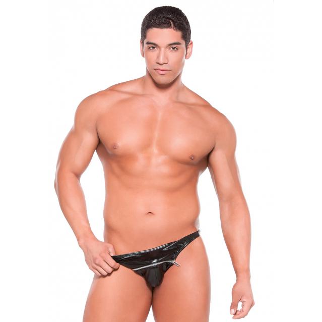 Мужские стринги Wetlook Zipper Thong Black Os