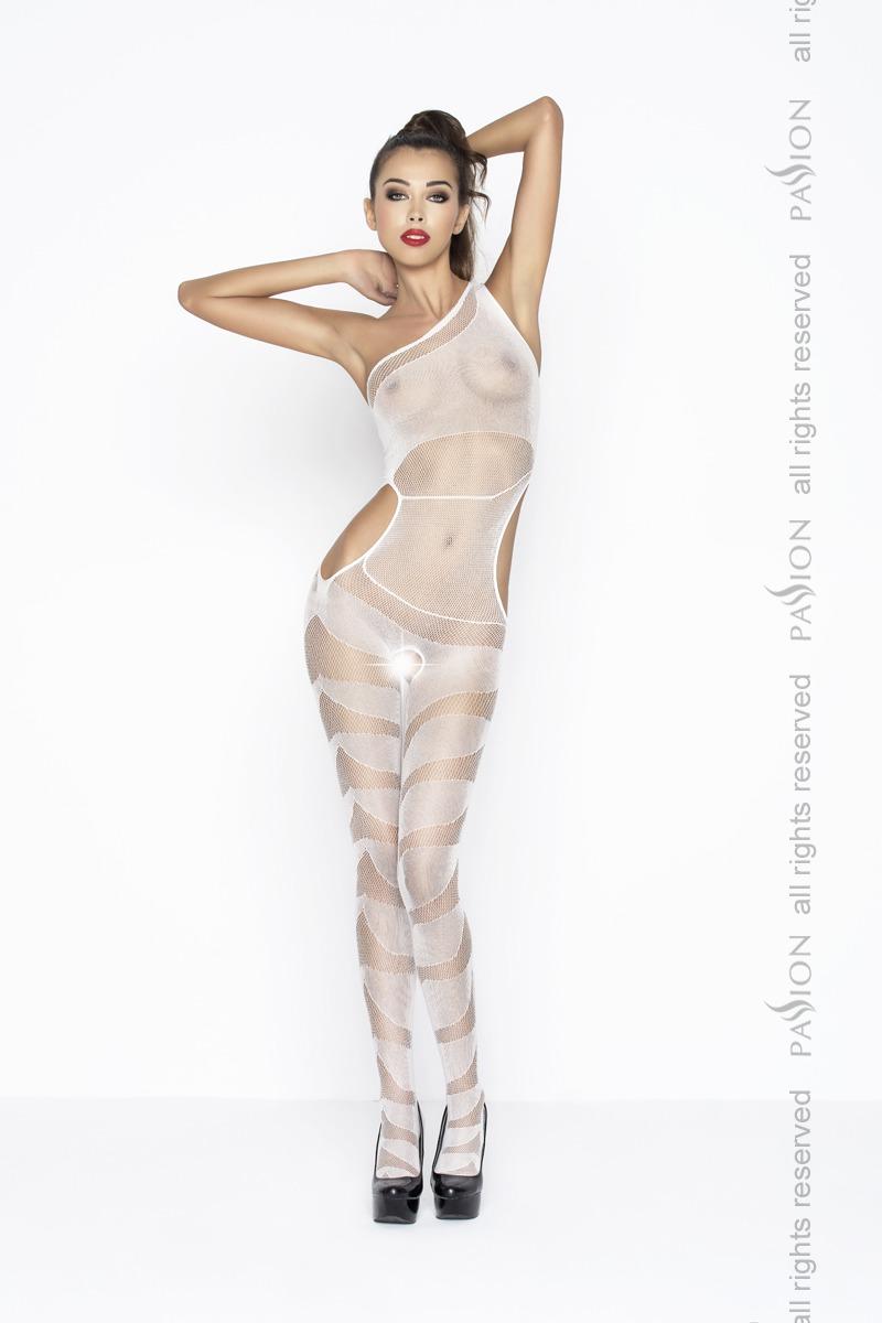 Костюм-сетка женский Passion BS041, белый