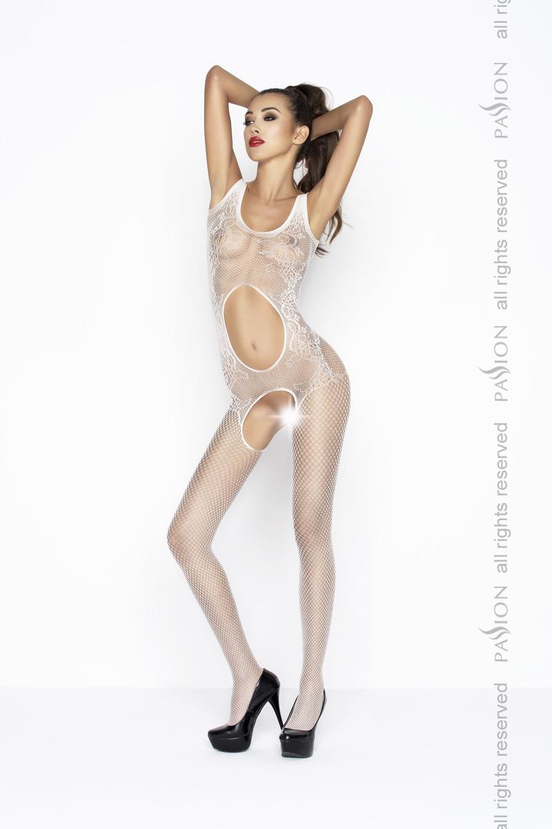 Чулки на голое тело Passion BS044, белые