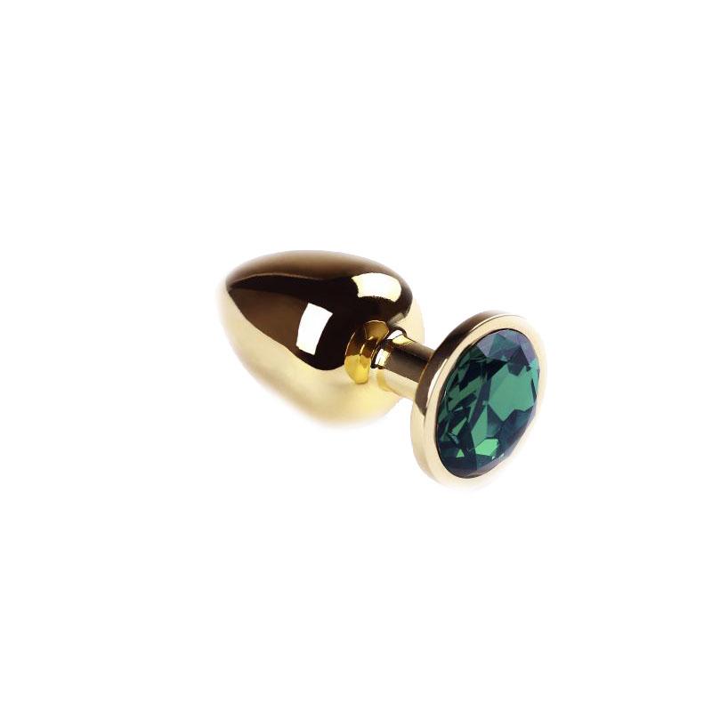 Анальная пробка Gold Emerald, L