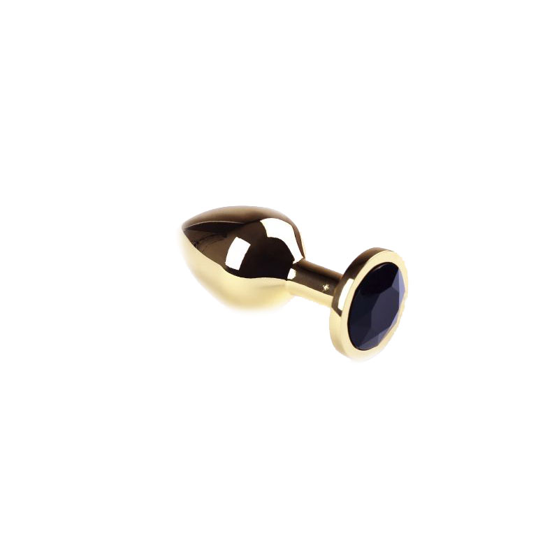 Анальная пробка Gold Black Diamond, M
