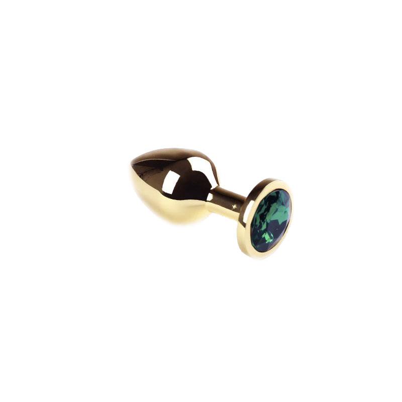 Анальная пробка Gold Emerald, M