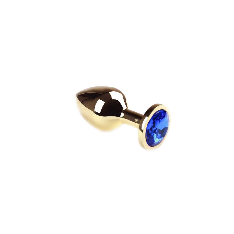 Анальная пробка Gold Sapphire, M