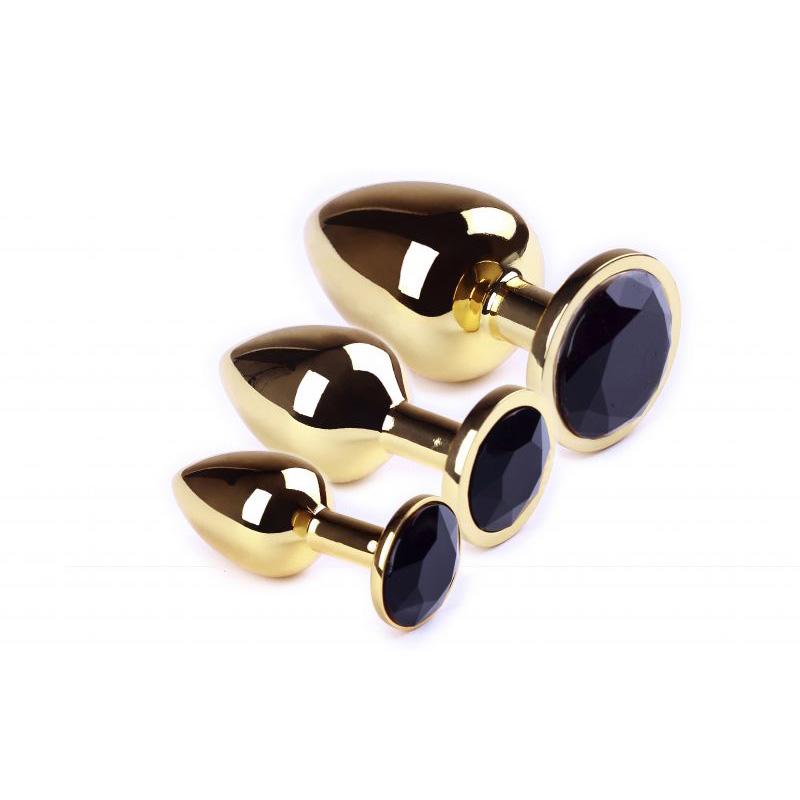 Набор анальных пробок SLash Gold Black Diamond, L, M, S