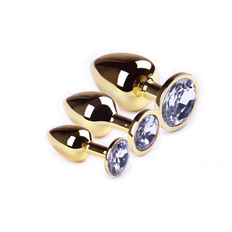 Набор анальных пробок SLash Gold Diamond, L, M, S