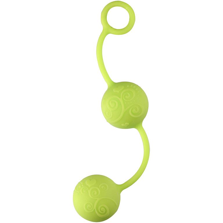 Шарики вагинальные Neon Pleasure Balls, зеленый