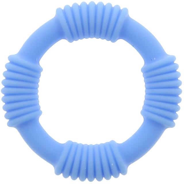 Эрекционное кольцо PLAY CANDI COTTON POP, голубое