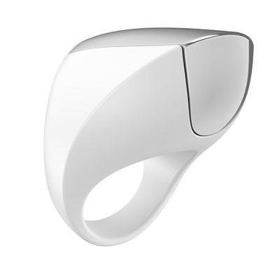 Кольцо вибрирующее OVO A1 RECHARGEABLE RING, белое