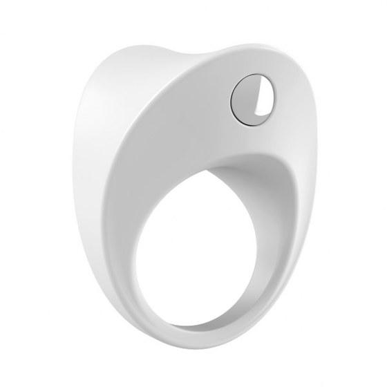 Вибрирующее кольцо OVO B11 Vibrating Ring, белое
