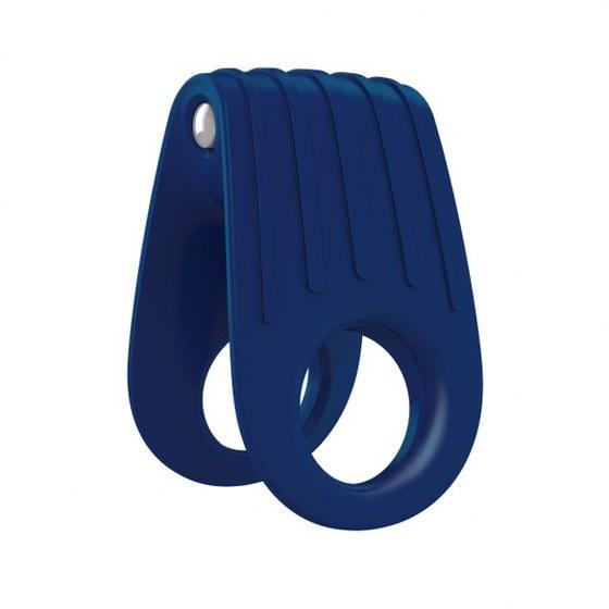 Вибрирующее кольцо OVO B12 Vibrating Ring, синее